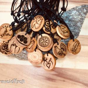 Amulette ohne Rinde Lärche