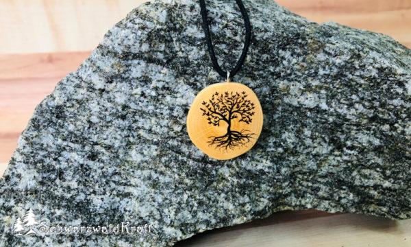 Amulett Baum des Lebens ohne Rinde Buche
