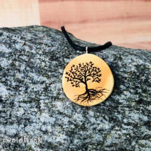 Amulett Baum des Lebens ohne Rinde Kirsche