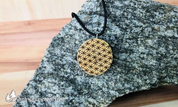 Amulett Blume des Lebens ohne Rinde Kirsche