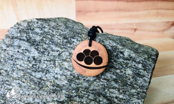 Holzanhänger Bollenhut Lärche