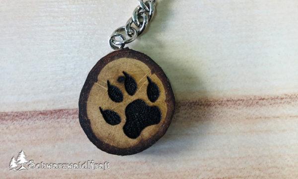 Schlüsselanhänger Wolfstatze