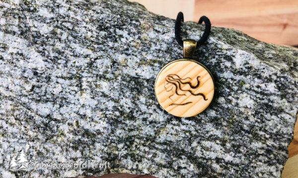 Anhänger Sternzeichen Jungfrau Bronzefassung