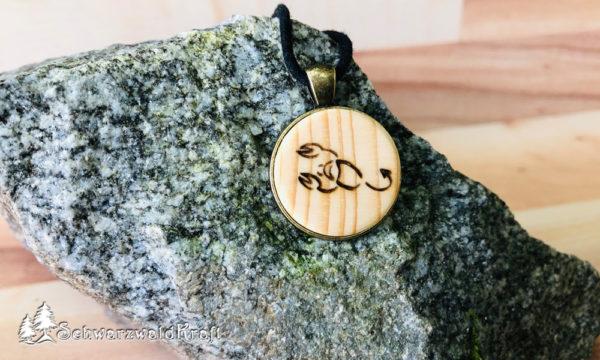 Anhänger Sternzeichen Skorpion Bronzefassung