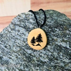 Amulett Tannenbäume ohne Rinde Buche