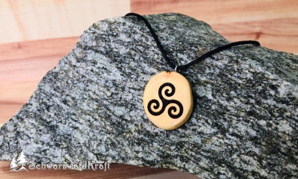 Amulett Triksele ohne Rinde Buche
