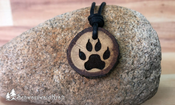 Amulett Wolfstatze Eiche