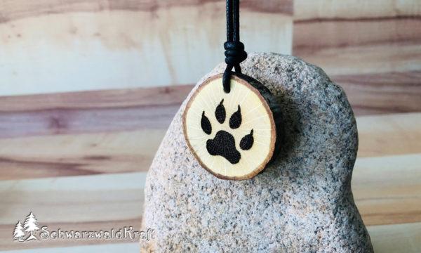 Amulett Wolfstatze Eiche-neu