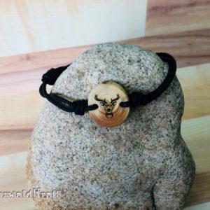 Armband Hirsch mit Brille Tanne