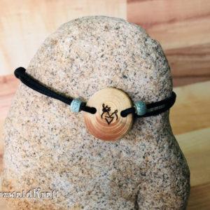Armband Hirschpaar Tanne Keramikperle