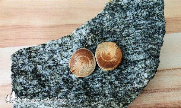 Ohrhänger aus Holz Pur Tanne Bronze