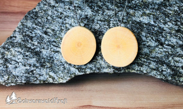 Ohrhänger aus Holz Pur Edelstahl Buche
