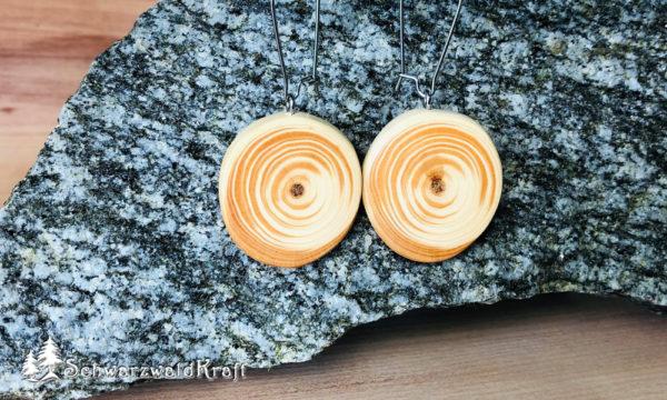 Ohrhänger aus Holz Pur Edelstahl Douglasie