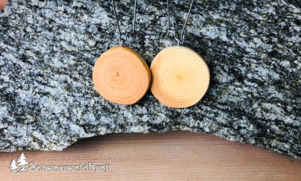 Ohrhänger aus Holz Pur Edelstahl Erle