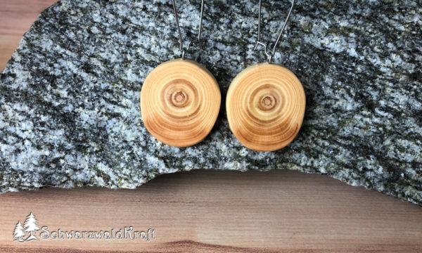 Ohrhänger aus Holz Pur Edelstahl Fichte