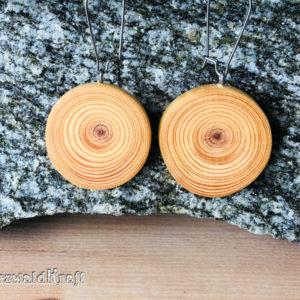 Ohrhänger aus Holz Pur Edelstahl Kiefer