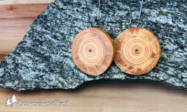 Ohrhänger aus Holz Pur Edelstahl Lärche