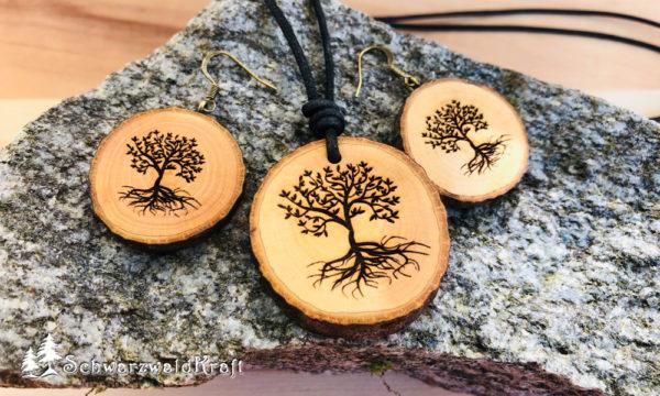 Set Baum des Lebens Erle mit Rinde