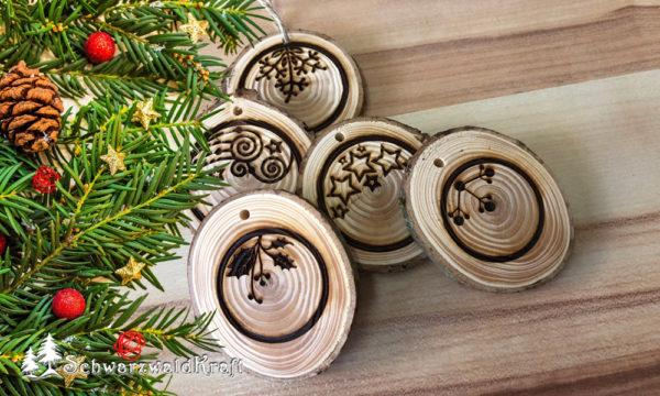 Weihnachtsbaumanhänger Holz
