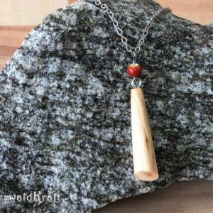 Holzanhänger Drop Kirsche mit Keramikperle