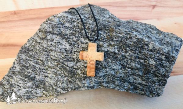Holzanhänger Kreuz Fichte