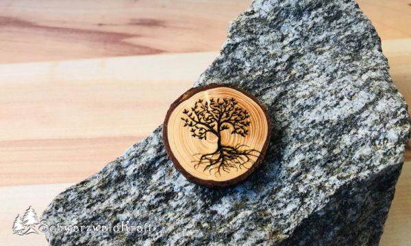 Halskette Motivanhänger mit Rinde Fichte Baum des Lebens