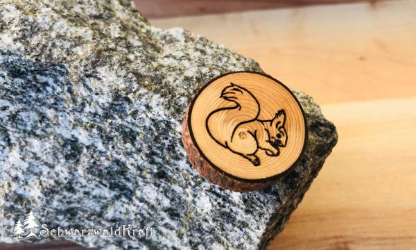 Halskette Motivanhänger mit Rinde Fichte Eichhörnchen
