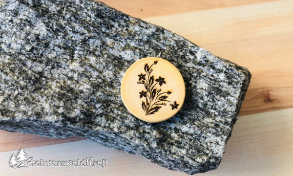 Halskette Motivanhänger Flower Buche