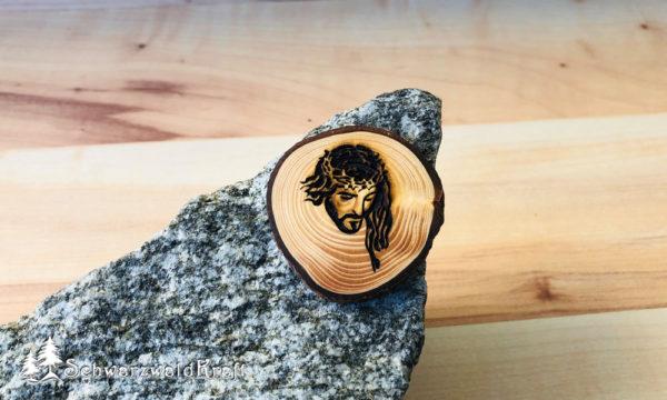 Halskette Motivanhänger mit Rinde Fichte Jesus