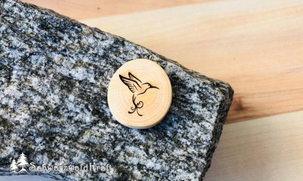 Halskette Motivanhänger Kolibri Buche
