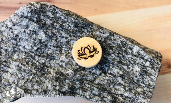Halskette Motivanhänger Lotusblüte Buche