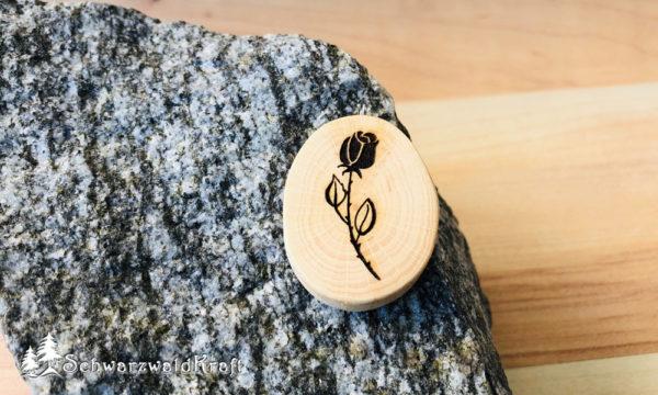 Halskette Motivanhänger Rose Buche