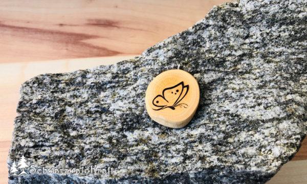 Halskette Motivanhänger Schmetterling Buche