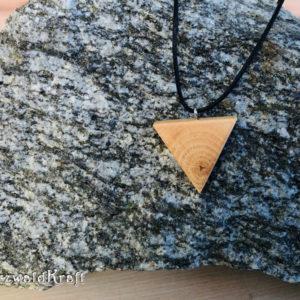 Halskette mit Holzanhänger Trigon Erle