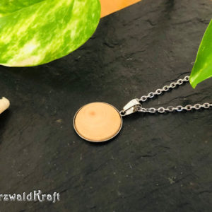 Halsketten Anhänger Holz und Edelstahl