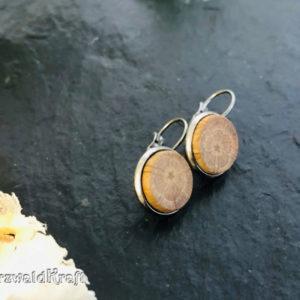Ohrringe aus Holz Eiche