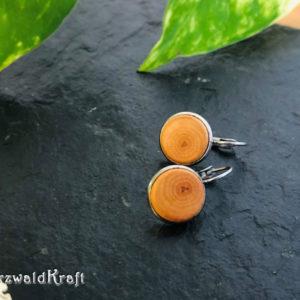 Ohrringe aus Holz Erle